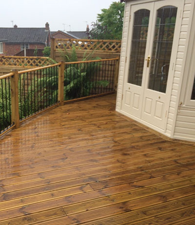 Timber Wooden Decking Stoke