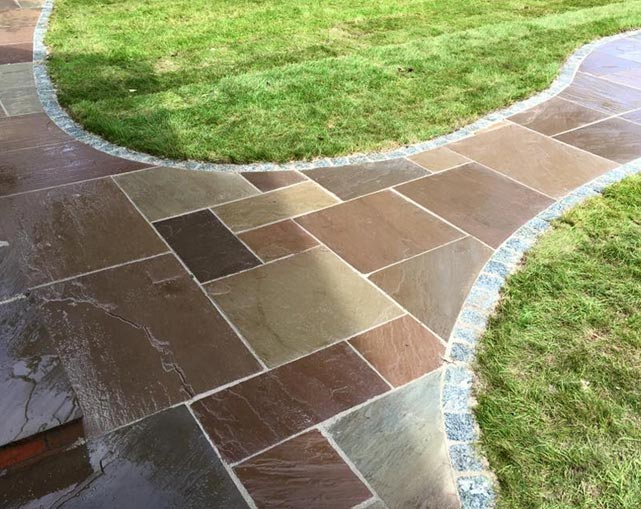 Indian Stone Paving in Cheshire
